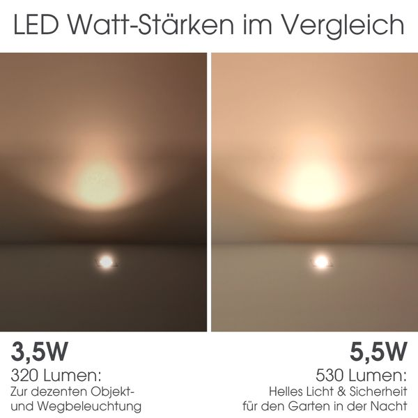 Bodeneinbaustrahler quadratisch VIROK inklusive LED GX53 5,5W neutralweiß 530lm 230V – Bild 8