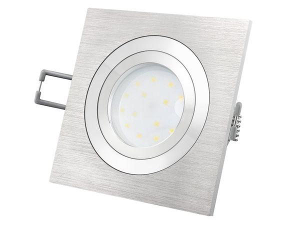 QF-2 Alu LED-Einbauspot flach schwenkbar inkl. LED-Modul 230V, 5W SMD, warm weiß 2700K dimmbar – Bild 2