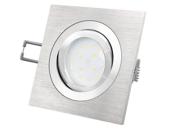 QF-2 Alu LED-Einbauspot flach schwenkbar inkl. LED-Modul 230V, 5W SMD, warm weiß 2700K dimmbar