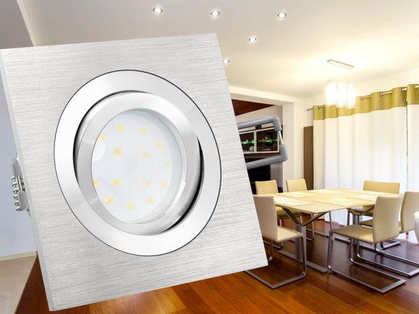 QF-2 Alu LED-Einbauspot flach schwenkbar inkl. LED-Modul 230V, 5W SMD, warm weiß 2700K dimmbar – Bild 3