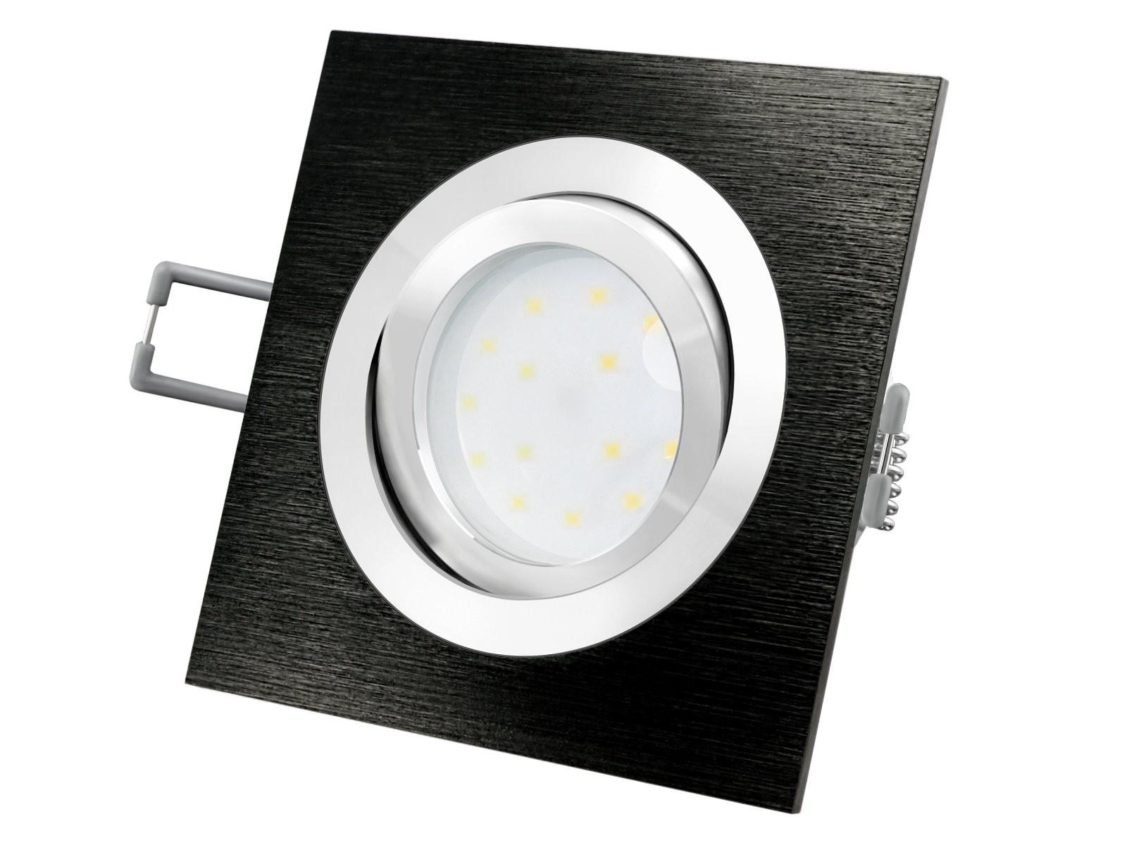 QF 20 LED Einbauleuchte Alu schwarz schwenkbar flach inkl. LED Modul 2030V,  20W, warm weiß 20700K dimmbar