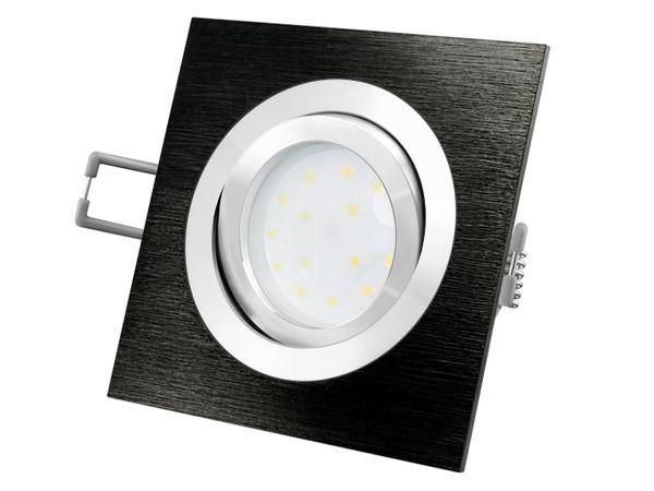 QF-2 LED-Einbauleuchte Alu schwarz schwenkbar flach inkl. LED-Modul 230V, 5W, warm weiß 2700K dimmbar