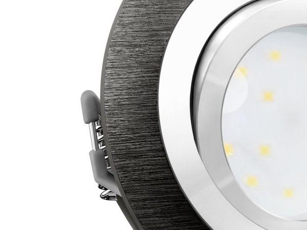 RF-2 LED-Einbauspot rund flach Alu schwarz gebürstet inkl. LED-Modul 230V, 5W, warm weiß 2700K dimmbar – Bild 5