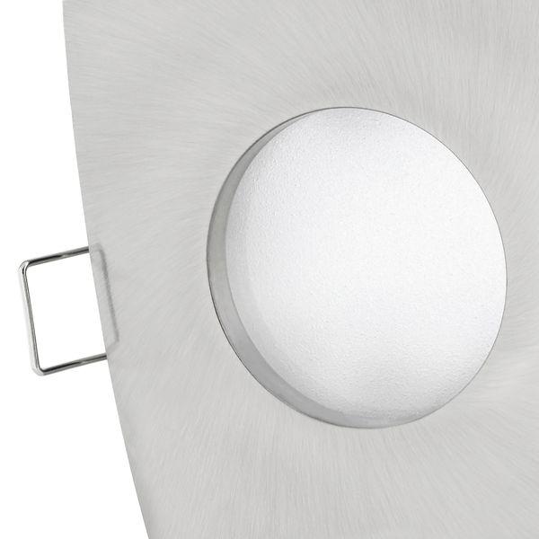 QW-1 LED Einbaustrahler dimmbar Bad IP65 in Alu gebürstet & eckig mit LED Modul 5W warmweiß – Bild 4