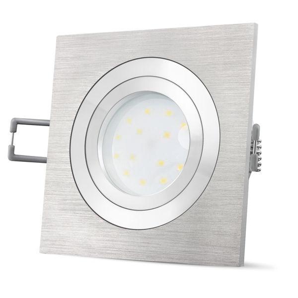 QF-2 Alu LED Einbaustrahler flach, schwenkbar & dimmbar inkl. LED Modul 5W neutralweiß 230V – Bild 5