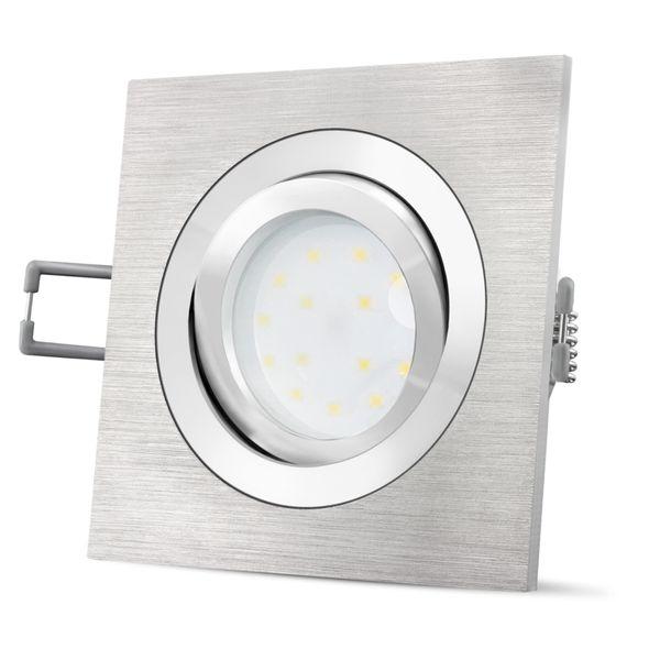 QF-2 Alu LED Einbaustrahler flach, schwenkbar & dimmbar inkl. LED Modul 5W neutralweiß 230V