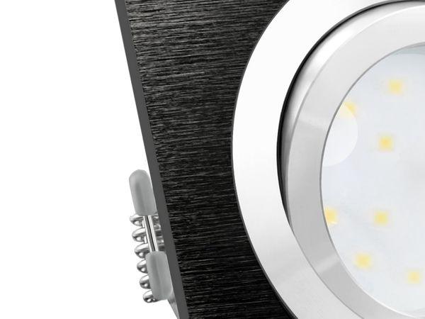 QF-2 LED-Einbauleuchte Alu schwarz schwenkbar flach, LED-Modul 230V, 5W, neutral weiß 4000K dimmbar – Bild 5