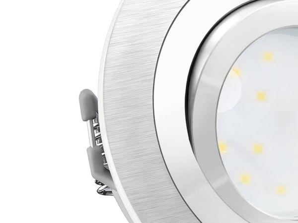 RF-2 Aluminium LED-Einbauleuchte flach rund inkl. LED-Modul 230V, 5W, neutral weiß 4000K dimmbar – Bild 5
