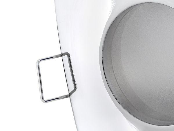 QW-1 flacher LED-Einbaustrahler chrom glänzend, IP65 inkl. LED-Modul 230V, 5W, neutral weiß 4000K dimmbar – Bild 4