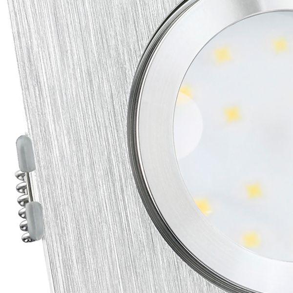 QW-2 LED Einbauleuchte IP44 Alu flach quadratisch mit LED Modul dimmbar 5W warmweiß 230V – Bild 5