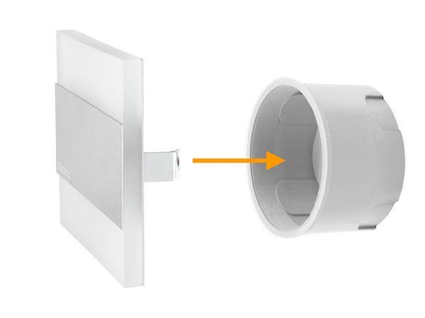 LED-Wandeinbauleuchte TERRA AC,Edelstahl poliert,1,3W 230V, IP20, Lichtfarbe warm weiß – Bild 3