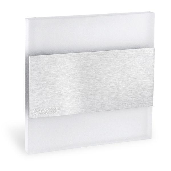 LED-Wandeinbauleuchte TERRA AC,Edelstahl poliert,1,3W 230V, IP20, Lichtfarbe warm weiß – Bild 1