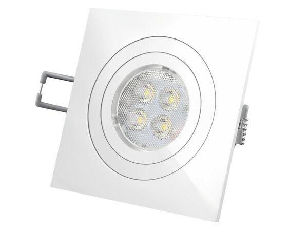 QF-2 LED-Einbaustrahler weiß schwenkbar, 5,5W DIMMBAR extrawarmweiß, 230V GU10, LED SUPERSTAR GLOWdim von OSRAM – Bild 2