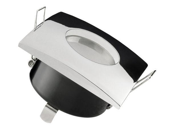 QW-1 Feuchtraum LED-Einbauspot Bad Dusche chrom, IP65 5W LED warm weiß, GU10 230V OSRAM SUPERSTAR Duo Click Dim