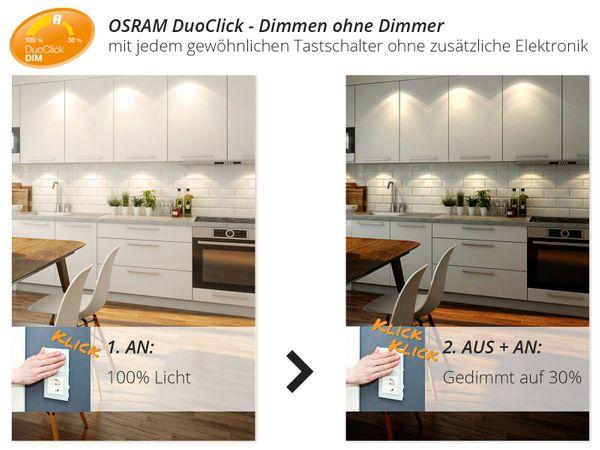 K3 Design LED-Einbauleuchte kardanisch schwenkbar, 3 Leuchtenköpfe mit je 5W OSRAM SUPERSTAR Duo Click Dim warmweiß – Bild 3
