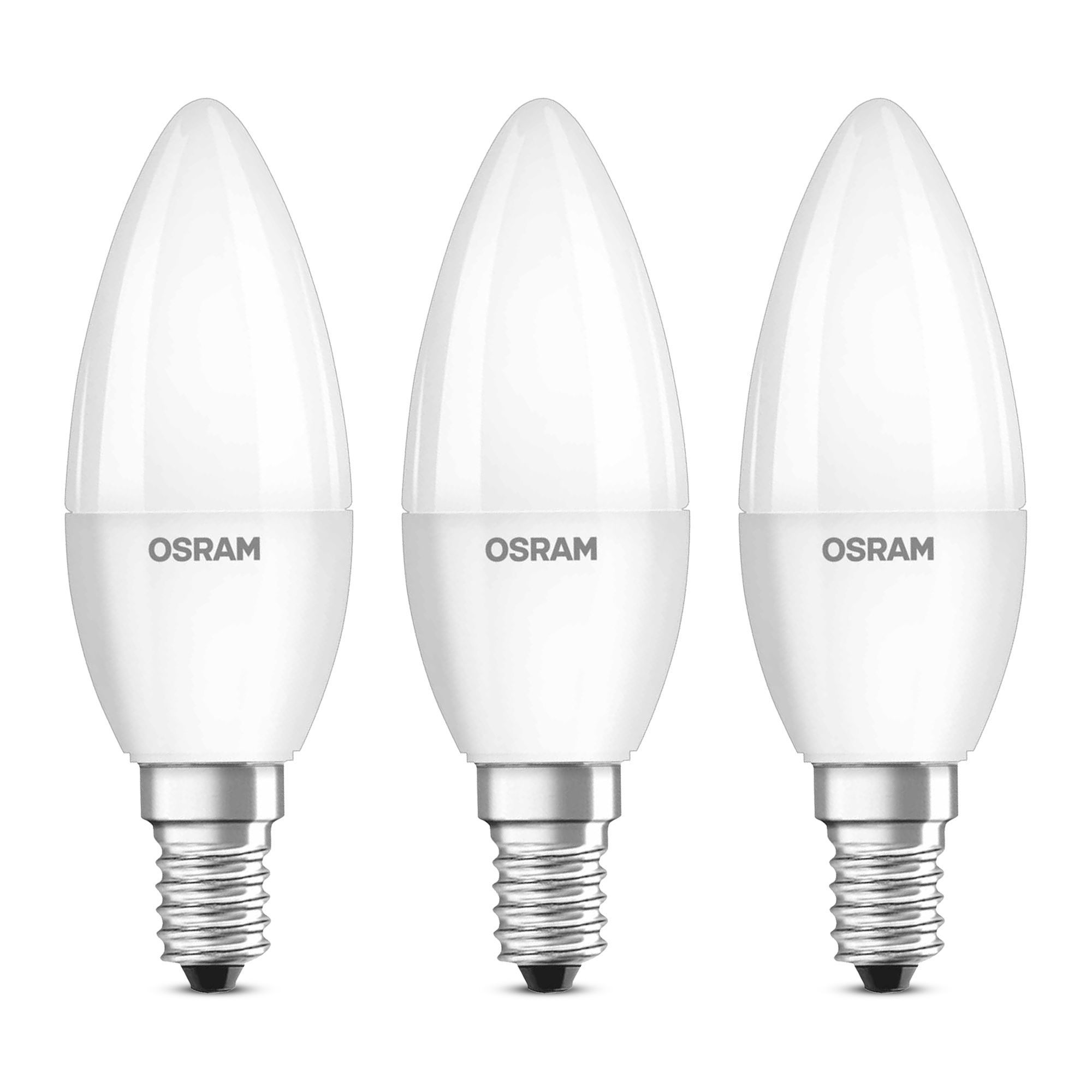 3er pack osram led kerze matt base classic b40 e14 5 7w 470 lumen warmweiss 2700 k. Black Bedroom Furniture Sets. Home Design Ideas