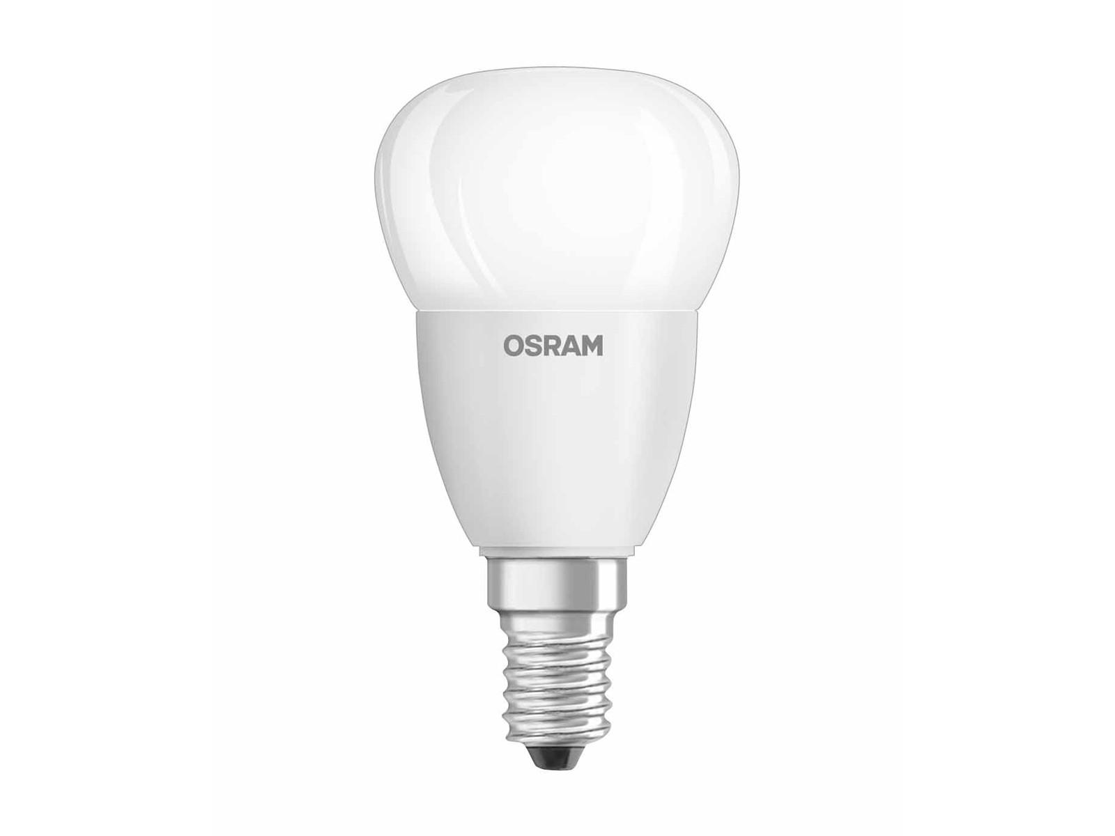 osram led star p40 birne e14 6w 470 lumen warmweiss 2700 k. Black Bedroom Furniture Sets. Home Design Ideas