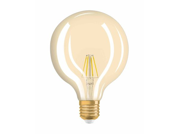 OSRAM LED VINTAGE 1906 4W Globe E27 410 Lumen warm weiß 2400K, Globe-Form im Retro-Design – Bild 2