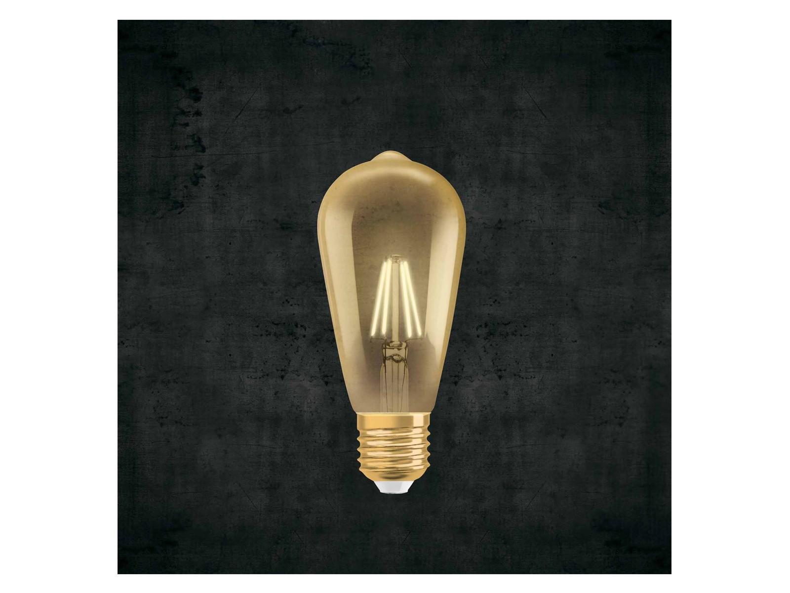 dimmbare osram led vintage 1906 7w st64 e27 710 lumen warm. Black Bedroom Furniture Sets. Home Design Ideas