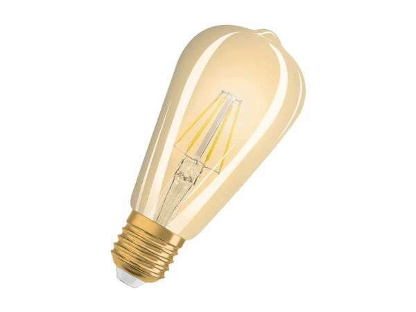 Dimmbare OSRAM LED VINTAGE 1906 7W ST64 E27 710 Lumen warm weiß 2400K, Edison-Form im Retro-Design – Bild 1