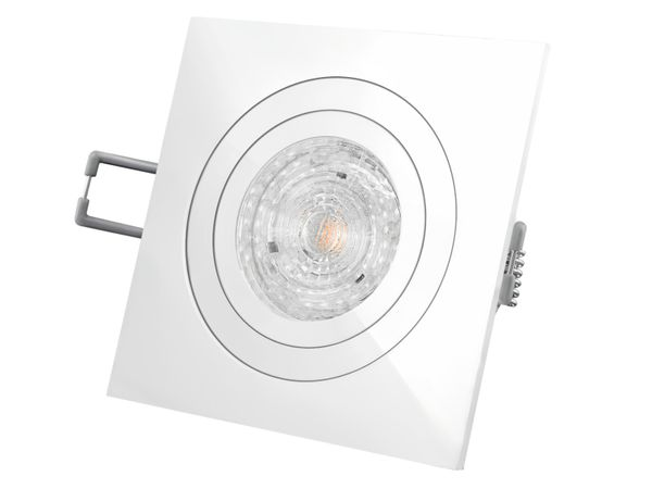 QF-2 LED-Einbaustrahler weiß schwenkbar, 5,9W DIMMBAR warmweiß, 230V GU10, LED PARATHOM DIM von OSRAM – Bild 2