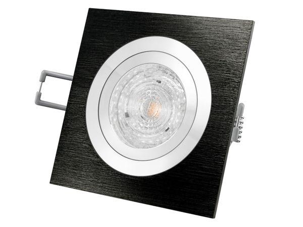 QF-2 LED-Einbauleuchte Alu schwarz schwenkbar, 5,9W warm weiß DIMMBAR, GU10 230V OSRAM LED PARATHOM DIM  – Bild 2
