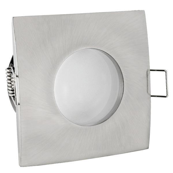 QW-1 Feuchtraum LED-Einbaustrahler Bad Edelstahl gebürstet, IP65, 4,6W warm weiß dimmbar, GU10 OSRAM SUPERSTAR DIM – Bild 4