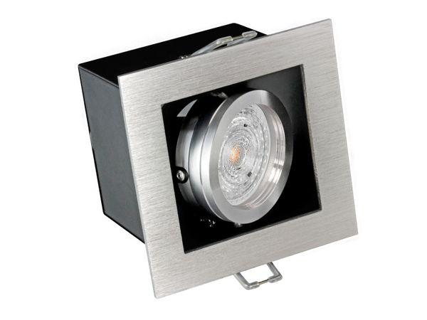 K1 LED Einbaustrahler Alu kardanisch schwenkbar, 4,6W SMD warmweiß DIMMBAR GU10 230V OSRAM LED SUPERSTAR DIM – Bild 2