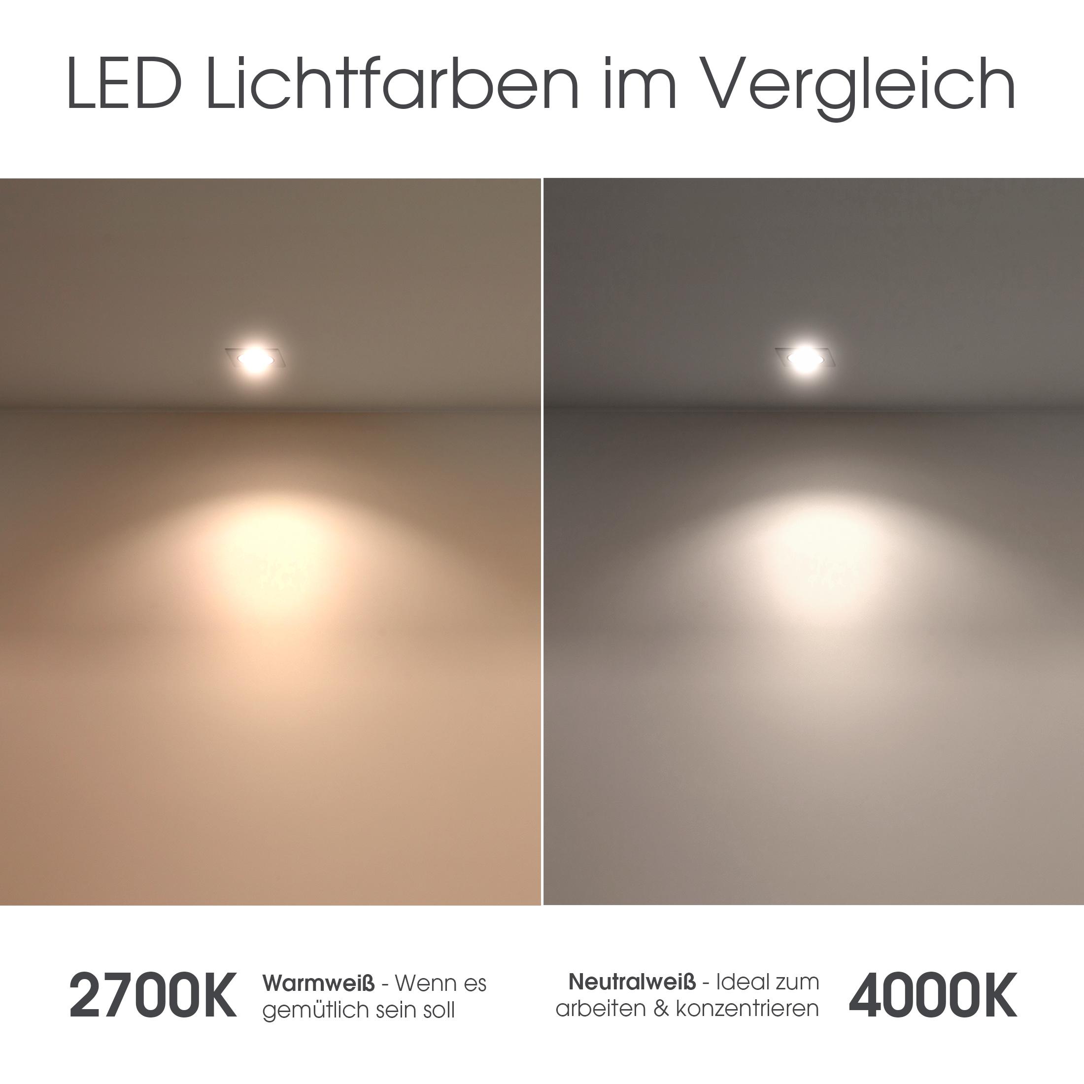 QW-1 LED-Einbaustrahler weiss, Bad Dusche Feuchtraum, IP65, 4,3W ...