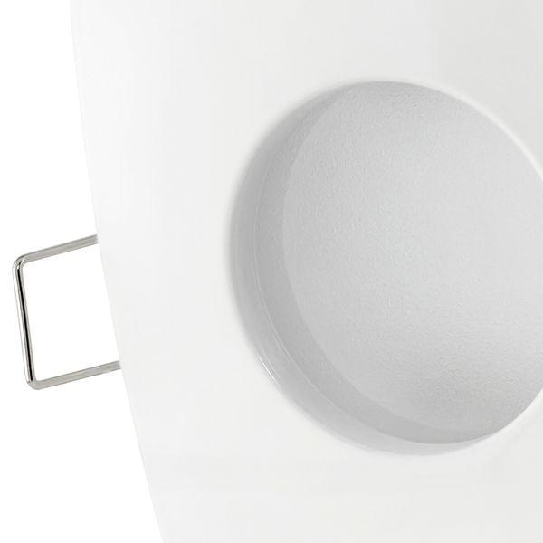 QW-1 LED-Einbaustrahler weiss, Bad Dusche Feuchtraum, IP65, 4,3W  warmweiß, GU10 OSRAM LED STAR  – Bild 4
