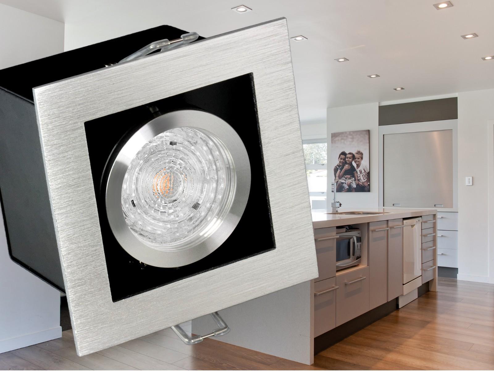 K1 LED Einbaustrahler Alu kardanisch schwenkbar, 4,3W SMD warmweiß ...