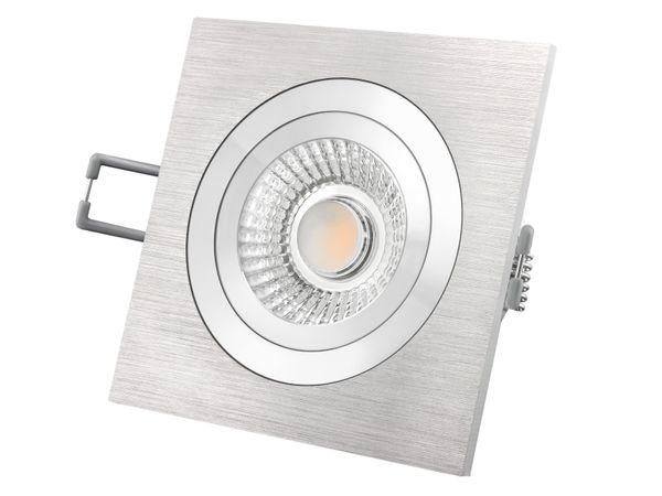 QF-2 Alu LED-Einbauspot flach schwenkbar inkl. LED-Modul 230V, 6W, warm weiß 2700K dimmbar – Bild 2