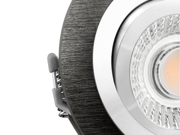 RF-2 LED-Einbauspot rund flach Alu schwarz schwenkbar inkl. LED-Modul 230V, 6W, warm weiß 2700K dimmbar – Bild 5