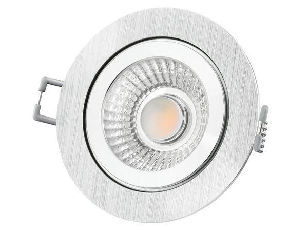 RW-2 LED-Einbauspot rund flach IP44 Alu inkl. LED-Modul 230V, 6W, warm weiß 2700K dimmbar – Bild 3