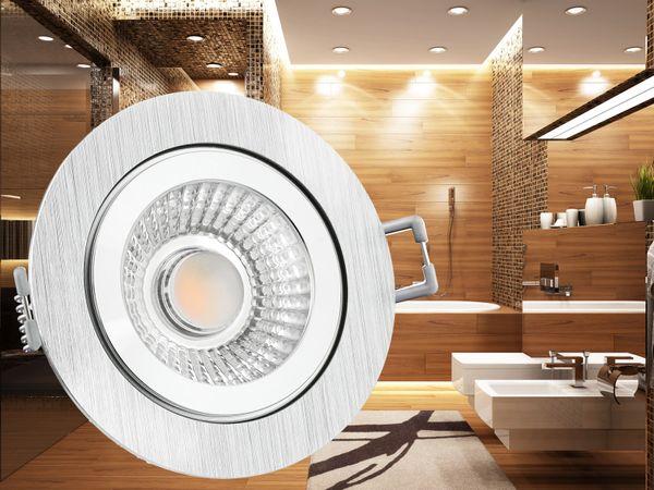 RW-2 LED-Einbauspot rund flach IP44 Alu inkl. LED-Modul 230V, 6W, warm weiß 2700K dimmbar – Bild 4