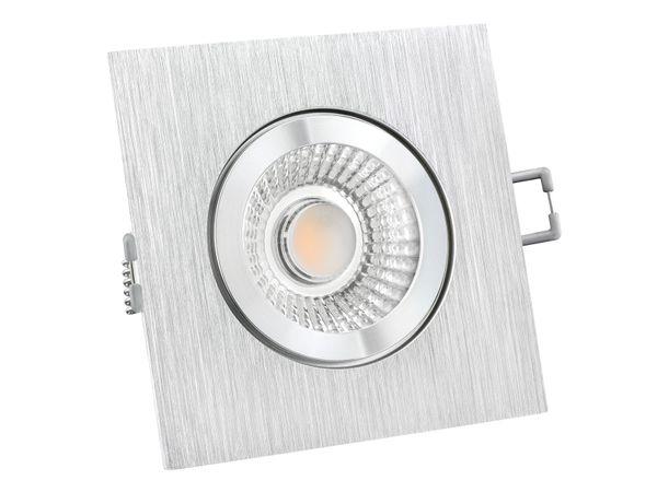 QW-2 LED-Einbauspot quadratisch flach IP44 Alu inkl. LED-Modul 230V, 6W, warm weiß 2700K dimmbar – Bild 2