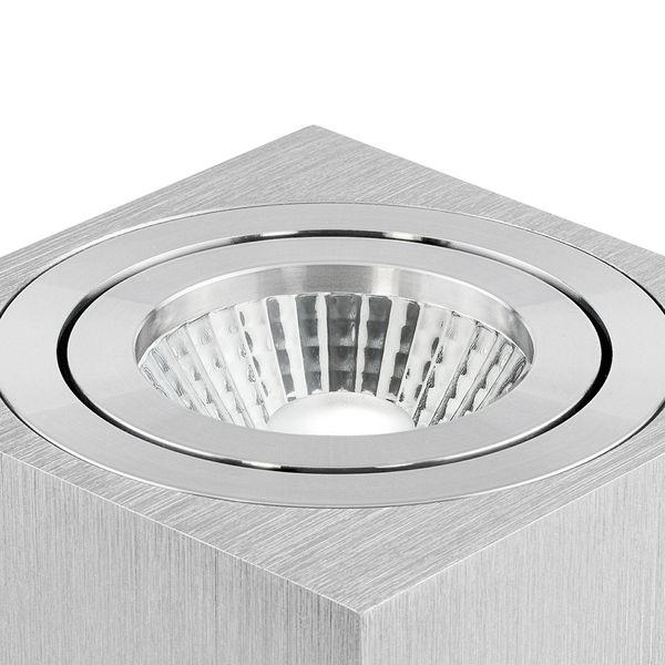 Aufbau Deckenspot DUCE aus Alu, schwenkbar inkl. LED 10W warmweiß (2300-2700K) dimmbar mit Dim-to-Warm – Bild 4