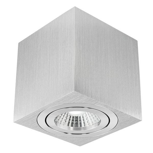 Aufbau Deckenspot DUCE aus Alu, schwenkbar inkl. LED 10W warmweiß (2300-2700K) dimmbar mit Dim-to-Warm Stückzahl: 1er Set
