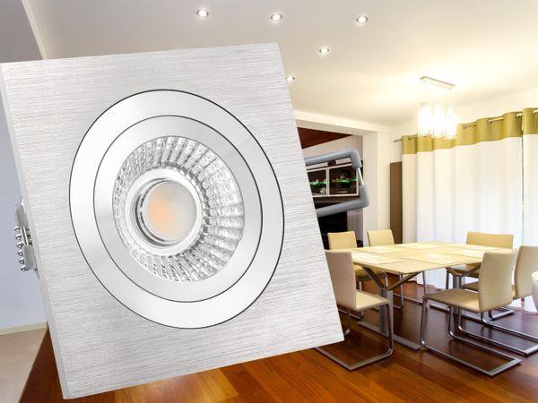 QF-2 Alu LED-Einbauspot flach schwenkbar inkl. LED-Modul 230V, 10W, warm weiß 2300-2700K dimmbar mit Dim-to-Warm – Bild 5