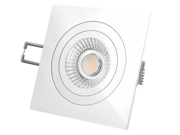 QF-2 LED-Einbauspot weiß flach schwenkbar inkl. LED-Modul 230V, 10W, warm weiß 2300-2700K dimmbar mit Dim-to-Warm – Bild 3