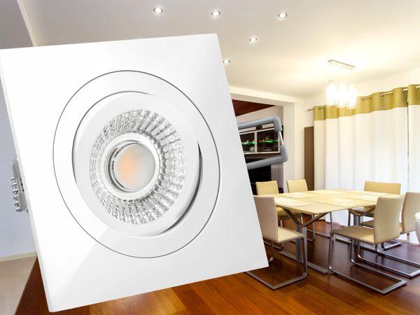 QF-2 LED-Einbauspot weiß flach schwenkbar inkl. LED-Modul 230V, 10W, warm weiß 2300-2700K dimmbar mit Dim-to-Warm – Bild 4