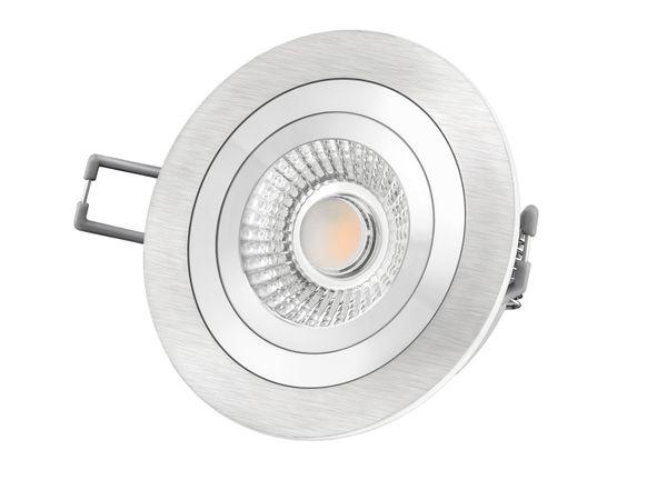 RF-2 LED-Einbauspot rund flach Alu schwenkbar inkl. LED-Modul 230V, 10W, warm weiß 2300-2700K dimmbar mit Dim-to-Warm – Bild 2