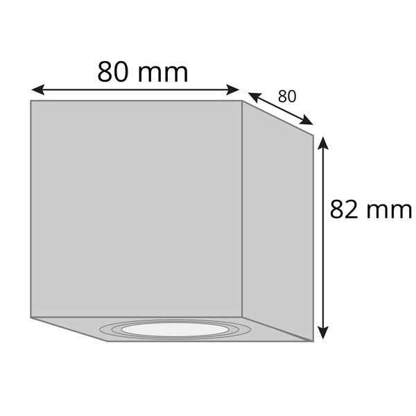Decken Aufbauspot DUCE aus Alu, schwenkbar inkl. LED Leuchtmittel 5W SMD neutralweiß 230V – Bild 5