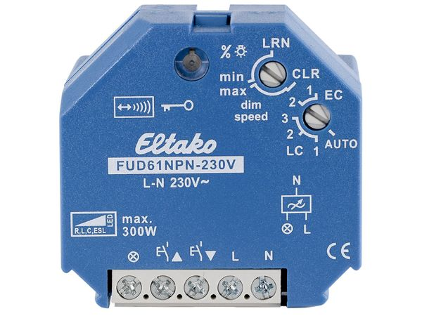 Funkaktor Universal-Dimmschalter/ Dimmer für dimmbare LED bis 100W für die Unterputzdose, Eltako FUD61NPN-230V