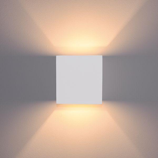 Wandleuchte Up and Down Olga aus Gips überstreichbar mit LED G9 2W warm weiß 2700K – Bild 2