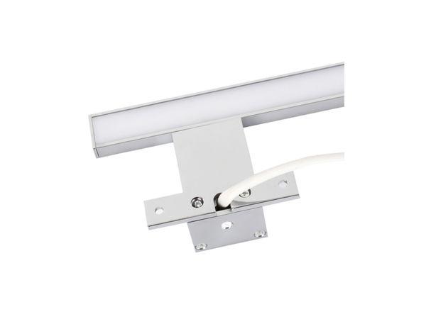 XXL LED Badleuchte Spiegelleuchte 60 cm - 9W IP44 warmweiß chrom glänzend – Bild 5