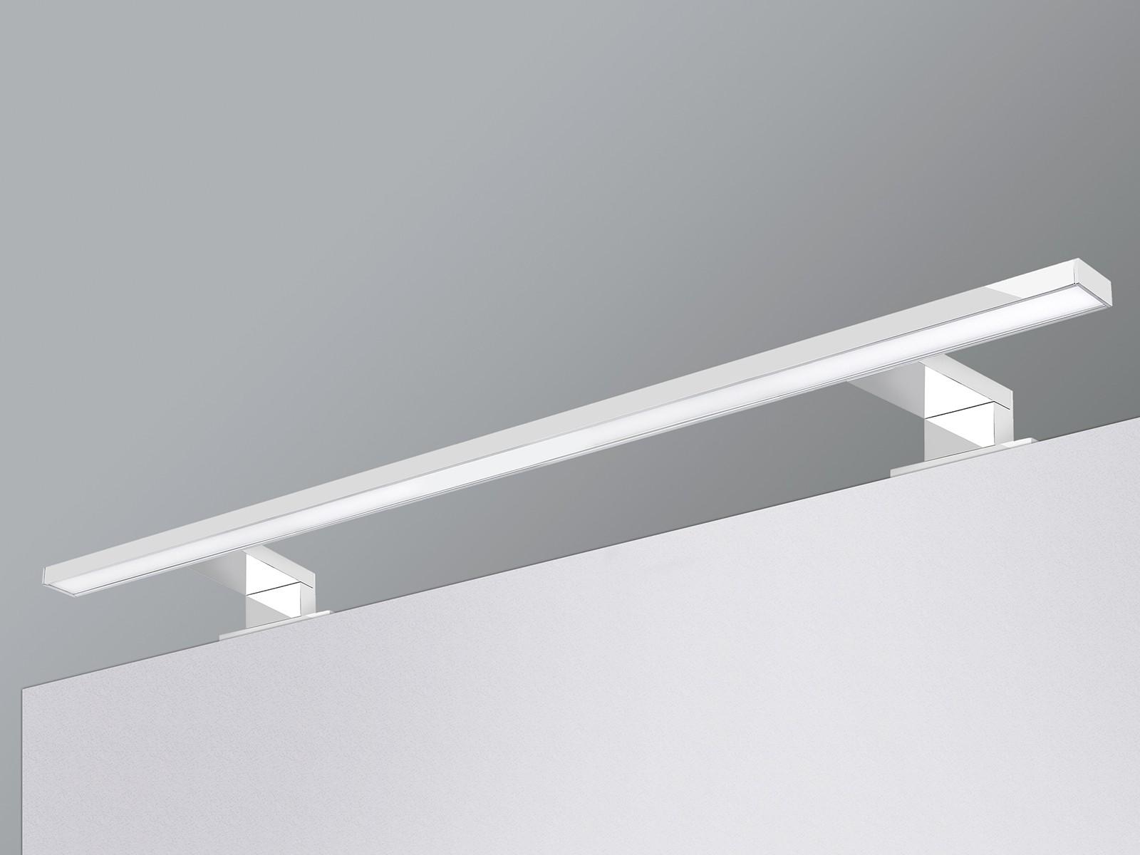 led badleuchte spiegelleuchte 9w ip44 tageslichtwei 60cm chrom gl nzend. Black Bedroom Furniture Sets. Home Design Ideas