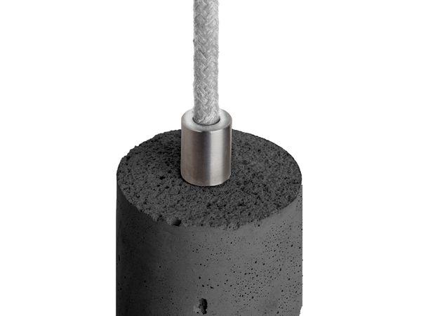 KALLA Pendelleuchte Beton schwarz, Kabel hellgrau 2,20m, mit OSRAM LED VINTAGE 1906 E27 Edison 7W DIMMBAR – Bild 3