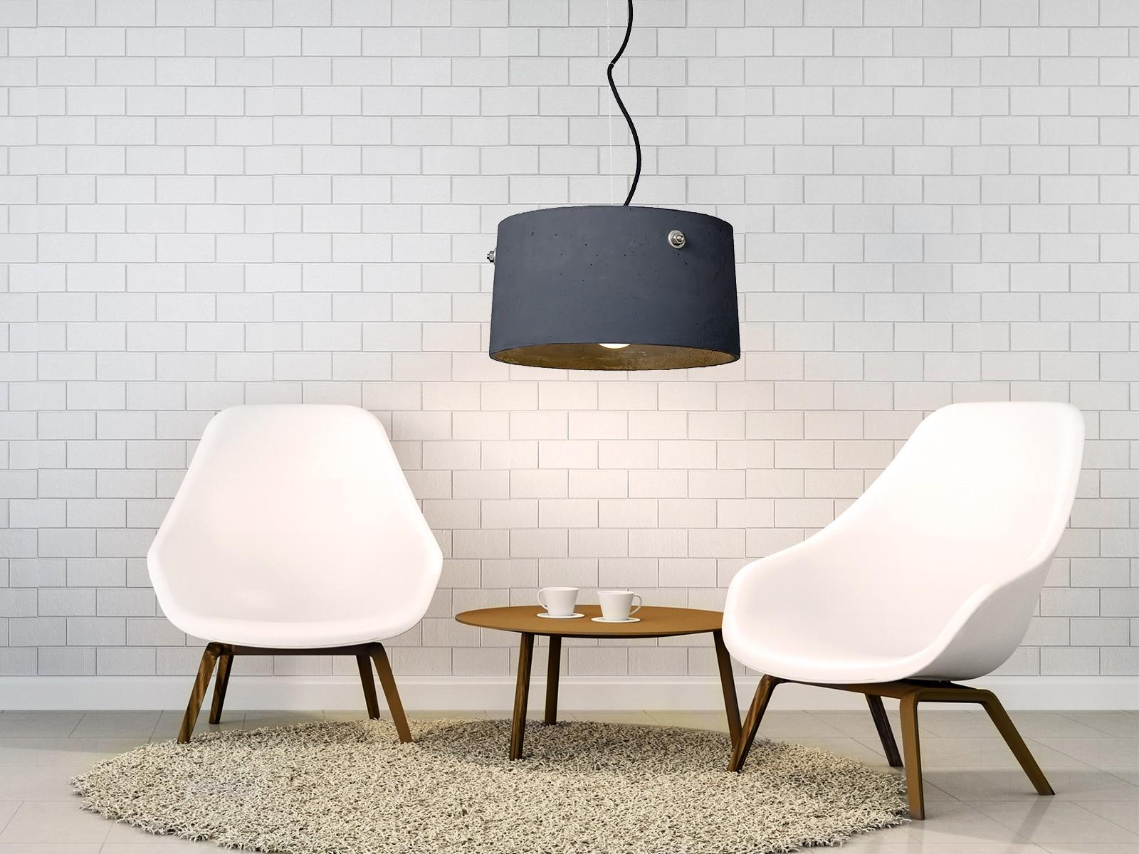 talma pendelleuchte beton anthrazit kabel schwarz 2 20m. Black Bedroom Furniture Sets. Home Design Ideas