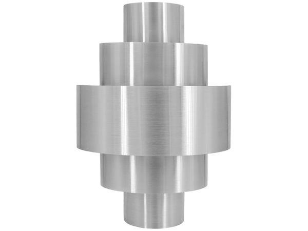 LED Wandleuchte aus Aluminium fein gebürstet, inkl. LED E14 3W warmweiß